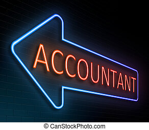 Accountant sign concept - Illustration depicting an...