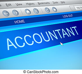 Accountant online concept. - Illustration depicting a...