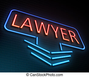 Lawyer sign concept.