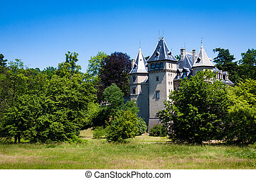 French Renaissance style castle located in Goluchow, Poland