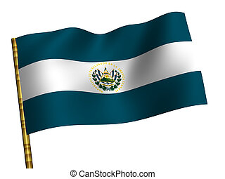 Salvador - National Flag. Salvador