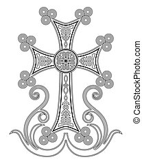 Traditional Armenian Apostolic Church cross clip art. Cross...