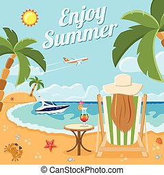 Vacation and Summer Concept - Vacation, Tourism and Summer...