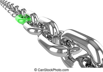 render stainless steel chain - 3d render stainless steel...