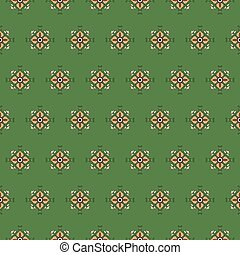 seamless pattern on a green background