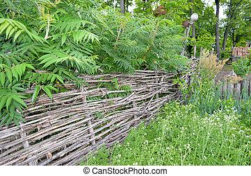wicker rural fence