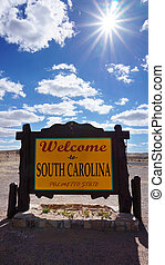 Welcome to South Carolina state concept