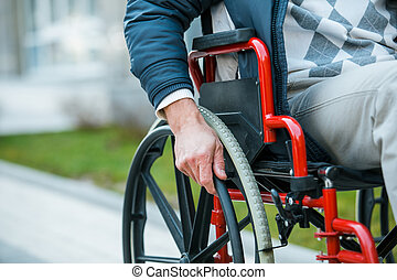 Concept for man on wheelchair