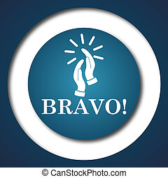 Bravo icon Internet button on white background