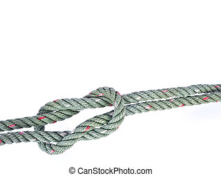 Reef knot isolated on white background