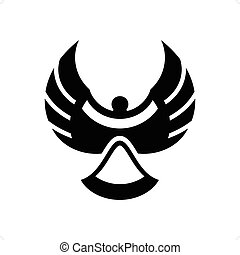 Magpie - Abstract magpie bird silhouette vector illustration...