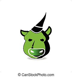 Beast - Cartoon style bull beast vector illustration...