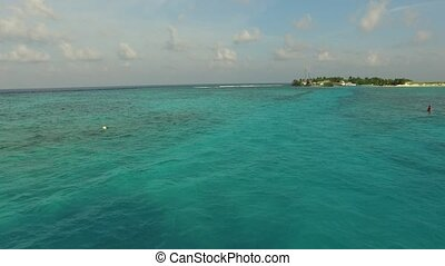 sea shore of maldives beach - travel, tourism, vacation and...