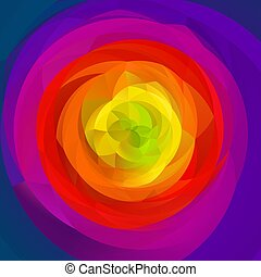 abstract modern swirl background - full color rainbow...