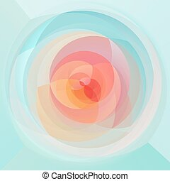 abstract modern swirl background - light pastel colored -...