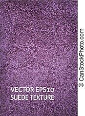 Vertical violet suede background