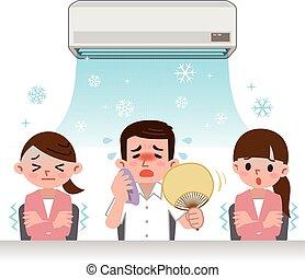 Midsummer of office image - Vector illustration.Original...