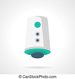 Electric air ionizer flat color vector icon - Modern air...