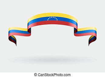 Venezuelan flag background. Vector illustration. -...