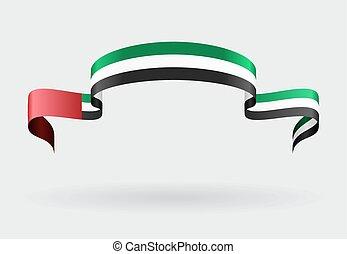 United Arab Emirates flag background. Vector illustration.