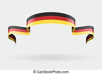 German flag background. Vector illustration. - German flag...