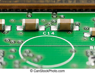SMD Capacitors on PCB - SMD Capacitors on Printed Circuit...