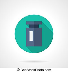 Blue weight round flat vector icon - Single blue calibration...