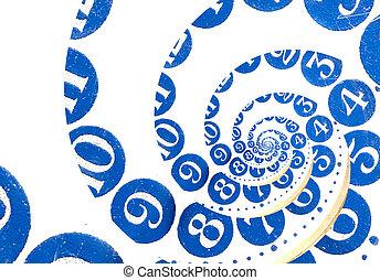 Vintage infinity spiral clock Time concept - Vintage...