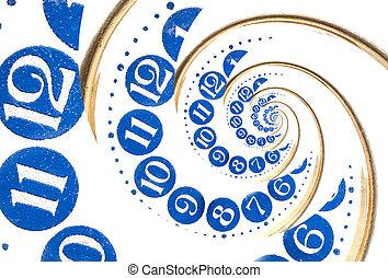 Vintage infinity spiral clock. Time concept. - Vintage...