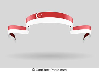Singapore flag background. Vector illustration. - Singapore...