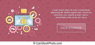 Data storage banner. - Data storage. Web banner, slider or...