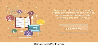 E-learning website banner. - E-learning. Web banner, slider...