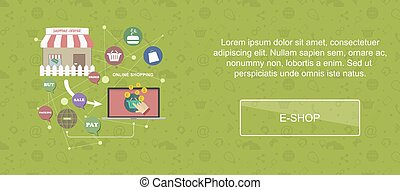 E-shop website banner. - E-shop. Web banner, slider or...