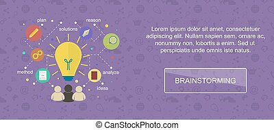 Brainstorming ideas banner - Brainstorming ideas Web banner,...