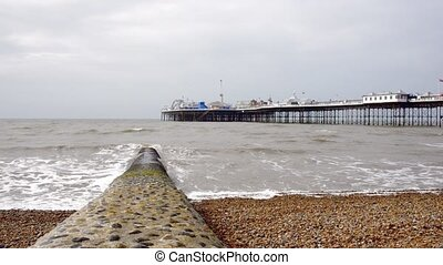 The Brighton Pier in England, UK