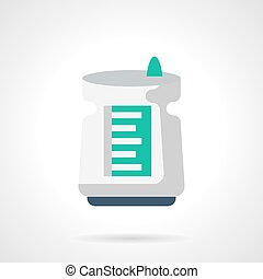 Air cleaner flat color vector icon - White electric air...