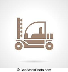 Irrigation tractor glyph style vector icon - Monochrome...