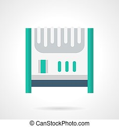 Electric air heater flat color vector icon - White...