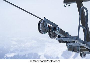 cableway reliance mechanism - mechanism rolls cableway...