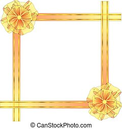 Square Frame with Bow - Square Frame from Semitransparent...
