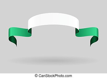 Nigerian flag background Vector illustration - Nigerian flag...