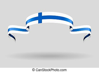 Finnish flag background Vector illustration - Finnish flag...