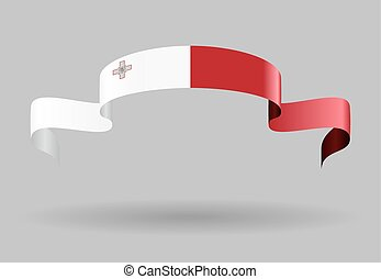 Maltese flag background Vector illustration - Maltese flag...