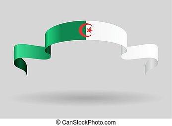 Algerian flag background Vector illustration - Algerian flag...