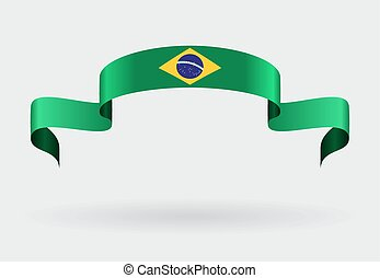 Brazilian flag background Vector illustration - Brazilian...