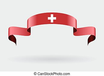Swiss flag background Vector illustration - Swiss flag wavy...