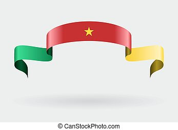 Cameroon flag background Vector illustration - Cameroon flag...