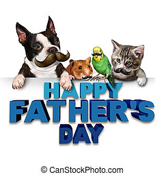 Fathers Day Greetings - Fathers day greetings fun concept as...