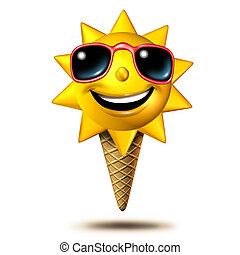 Summer Treat - Summer treat as as a happy sun character...