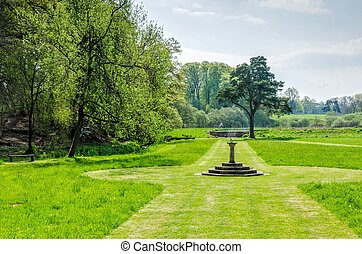 Gardens at Hutton in the Forest, Cumbria, England - Fountain...